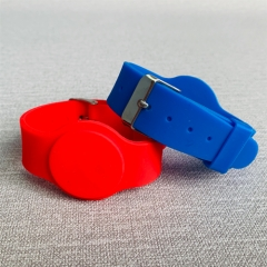 Bright Colours Reusable Adjustable FM11RF08 Passive RFID Wristband