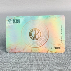 Custom Holographic Medical Laser Rainbow Colorful PVC Plastic RFID Visiting Card