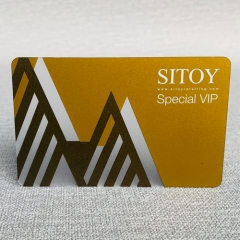 Glossy surface plastic Contact IC Smart Card Frosted RFID card