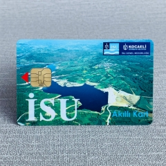 Customized Printing PVC Contact IC Chip Card for hotel/membership